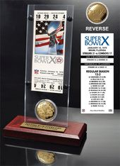 Football - Super Bowl 10 Ticket & Game Coin