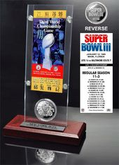 Football - Super Bowl 3 Ticket & Game Coin