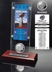 Football - Super Bowl 42 Ticket & Game Coin