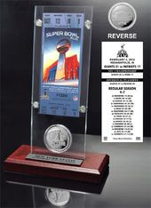 Football - Super Bowl 46 Ticket & Game Coin