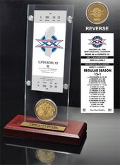 Football - Super Bowl 20 Ticket & Game Coin