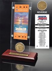 Football - Super Bowl 23 Ticket & Game Coin