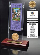 Football - Super Bowl 32 Ticket & Game Coin