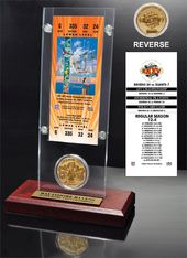 Football - Super Bowl 35 Ticket & Game Coin