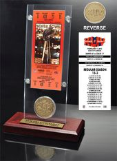 Football - Super Bowl 44 Ticket & Game Coin