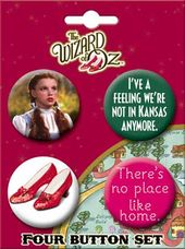 The Wizard of Oz - Dorothy Carded 4 Button Set