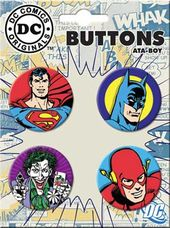 DC Comics - Characters - 4-Piece Round Button Set