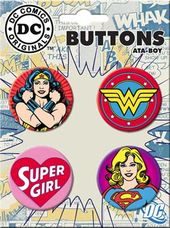 DC Comics - Female Superheroes - 4-Piece Round