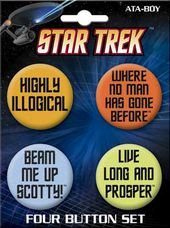 Star Trek - Quotes Carded 4 Button Set