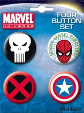 Marvel Comics - Logos Carded 4 Button Set
