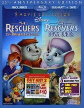Rescuers / The Rescuers Down Under (Blu-ray + DVD)