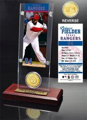 Baseball - Prince Fielder Ticket & Bronze Coin