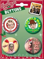 A Christmas Story Assortment #1 4 Button Set
