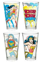 DC Comics - Wonder Woman - Pint Glass 4-pack