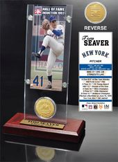 "Baseball - Tom Seaver ""Hall Of Fame"" Ticket &"