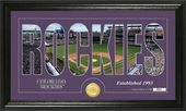 "Baseball - Colorado Rockies - ""Silhouette"" Bronze"