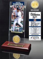 Baseball - Miguel Cabrera Ticket & Bronze Coin