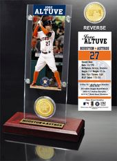 Baseball - Jose Altuve Ticket & Bronze Coin Desk