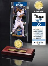 Baseball - Eric Hosmer Ticket & Bronze Coin