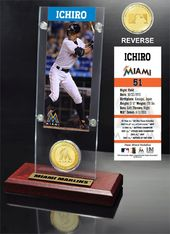 Baseball - Ichiro Ticket & Bronze Coin Desk Top