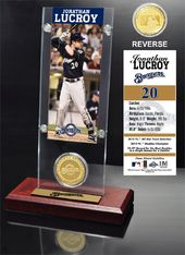 Baseball - Jonathan Lucroy Ticket & Bronze Coin