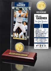 Baseball - Brett Gardner Ticket & Bronze Coin