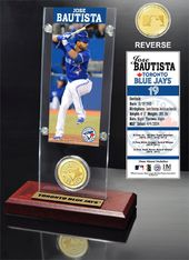 Baseball - Jose Bautista Ticket & Bronze Coin