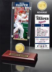 Baseball - Bryce Harper Ticket & Bronze Coin Desk