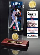 Baseball - David Ortiz Ticket & Bronze Coin Desk