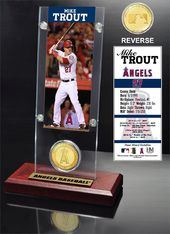 Baseball - Mike Trout Ticket & Bronze Coin Desk