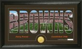 "Football - Cleveland Browns ""Silhouette"" Bronze"