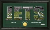 "Football - New York Jets ""Silhouette"" Bronze Coin"