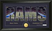 "Football - St. Louis Rams ""Silhouette"" Bronze"
