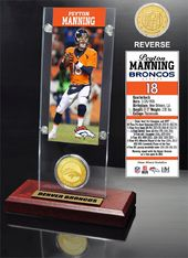 Football - Peyton Manning Ticket & Bronze Coin