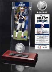 Football - Tom Brady Ticket & Minted Coin Acrylic