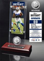 Football - Dez Bryant Ticket & Minted Coin