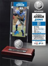 Football - Calvin Johnson Ticket & Minted Coin