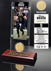 Football - Drew Brees Ticket & Bronze Coin