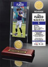 Football - Joe Flacco Ticket & Bronze Coin