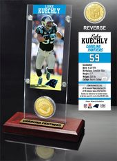 Football - Luke Kuechly Ticket & Bronze Coin