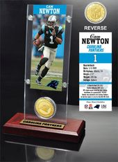 Football - Cam Newton Ticket & Bronze Coin