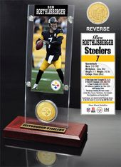 Football - Ben Roethlisberger Ticket & Bronze