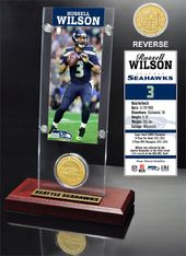 Football - Russell Wilson Ticket & Bronze Coin