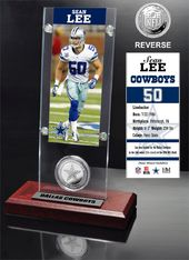 Football - Sean Lee Ticket & Minted Coin Acrylic