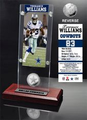 Football - Terrance Williams Ticket & Minted Coin