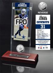 Football - Byron Jones Ticket & Minted Coin