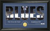 "Hockey - St. Louis Blues ""Silhouette"" Bronze Coin"