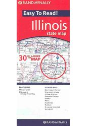 Rand Mcnally Easy to Read Illinois: State Map