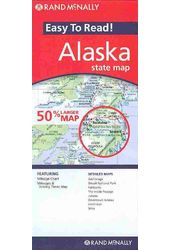 Rand Mcnally Easy to Read Alaska State Map