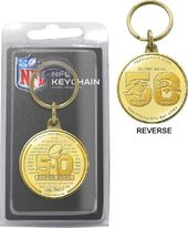 Football - Super Bowl 50 Bronze Flip Coin Keychain